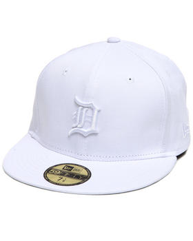 New Era - Detroit Tigers MLB White On White 5950 fitted hat