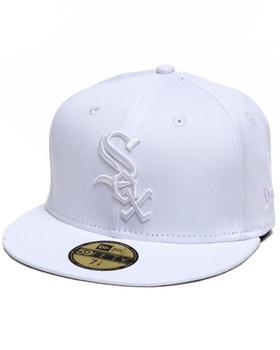 New Era - Chicago White Sox MLB White On White 5950 fitted hat
