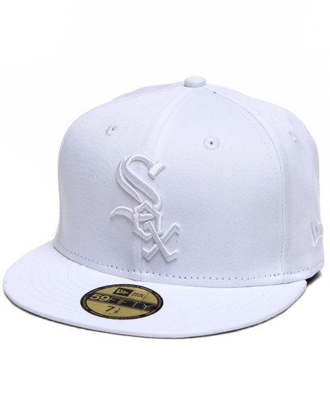 New Era - Men White Chicago White Sox Mlb White On White 5950 Fitted Hat