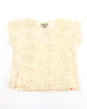 Lucky Brand - LACE CROCHECT TOP W/ TANK (7-16)