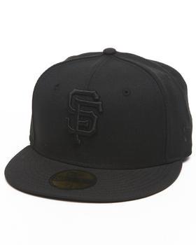 New Era - San Francisco Giants MLB Black On Black 5950 fitted hat