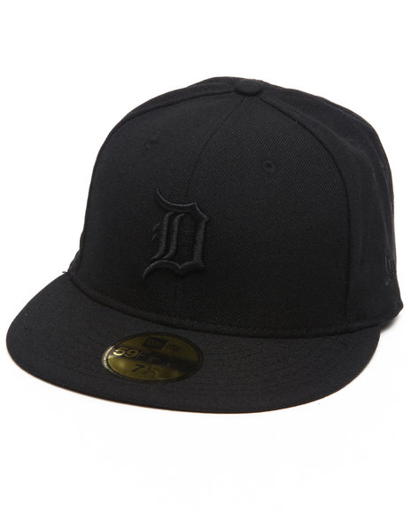 New Era - Men Black Detroit Tigers Mlb Black On Black 5950 Fitted Hat