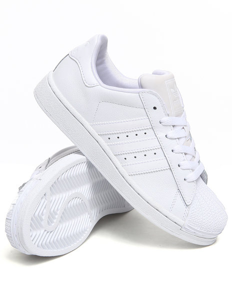 Adidas Boys White Superstar 2 Sneakers J