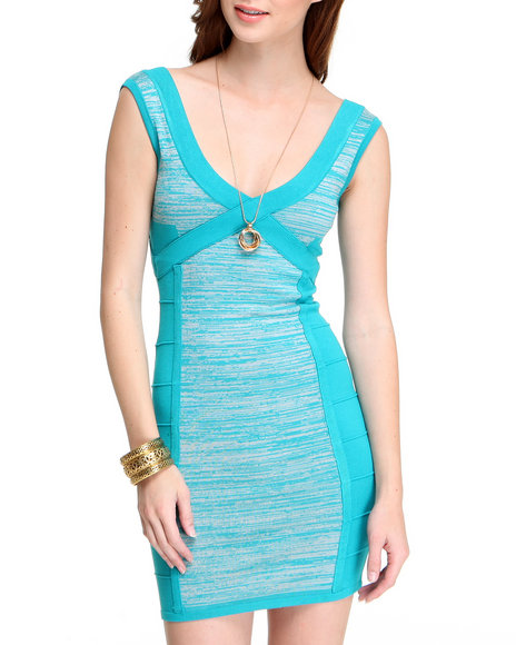Fashion Lab Women Teal Mindy Short Sleeve Dress