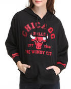 Women - Chicago Bulls Oversized 3/4 sleeve Hoodie
