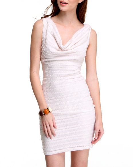 Fashion Lab Women Cream Mcstylin' Dress