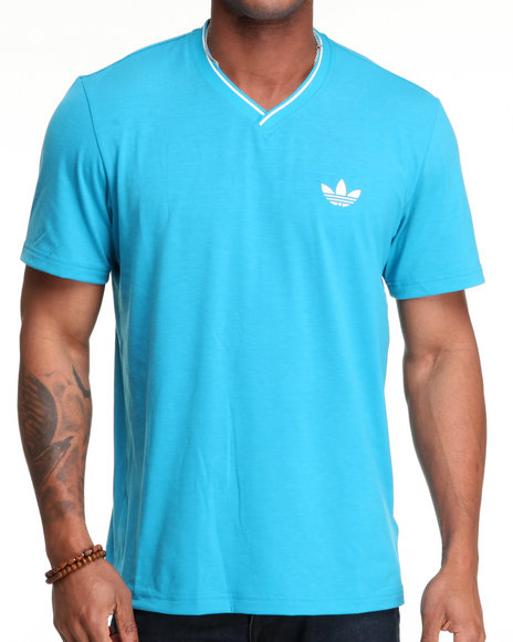 Adidas Men Teal Ultimate Vneck Tee