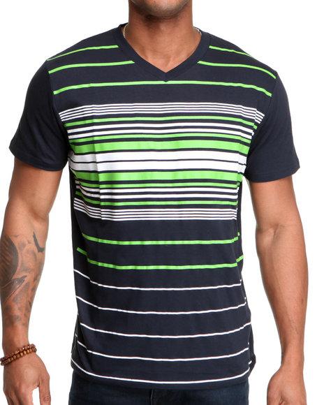 Company 81 Men Navy Charlston Stripe Crewneck Shirt