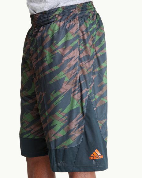 Adidas Men Green Prime Impact Camo All Star Shorts