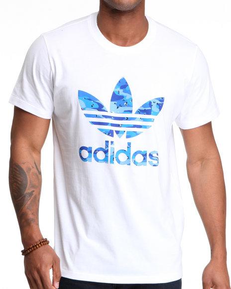 Adidas Men White Camo Tee