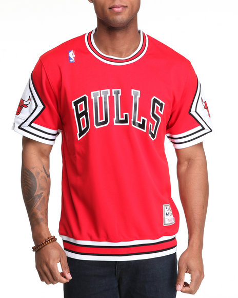Mitchell & Ness Men Red Chicago Bulls 1989-1990 Mitchell & Ness Nba Authentic Shooting Shirt (Limited Edition)