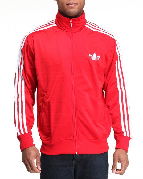 Adidas Men Red Adi Firebird Track Jacket