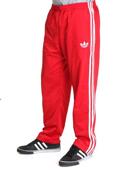 Adidas Men Red Adi Firebird Track Pants