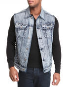 Vests - Iced Washed Denim Vest