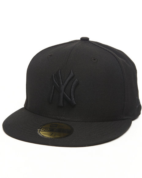 New Era - NEW YORK YANKEES ALL BLACK EVERYTHING 5950 FITTED CAP