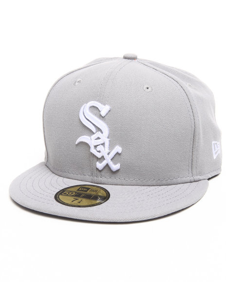 New Era Grey Chicago White Sox Gray Basic 5950 Fitted Cap