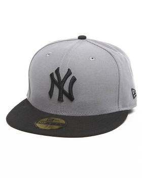 New Era - New York Yankees Grey/Black 5950 fitted hat