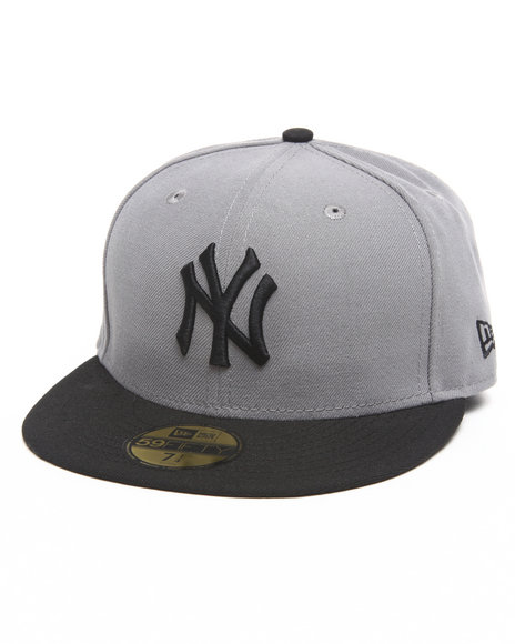 New Era - Men Grey New York Yankees Grey/Black 5950 Fitted Hat