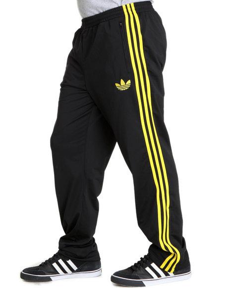 Adidas Men Black,Yellow Adi Firebird Track Pants