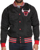 Men - Chicago Bulls NBA Report Satin Jacket (Trim fit)