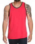 Men - Solid Heathered Tank Top