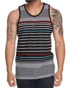 Men - Engineered Neon Striped Tank Top