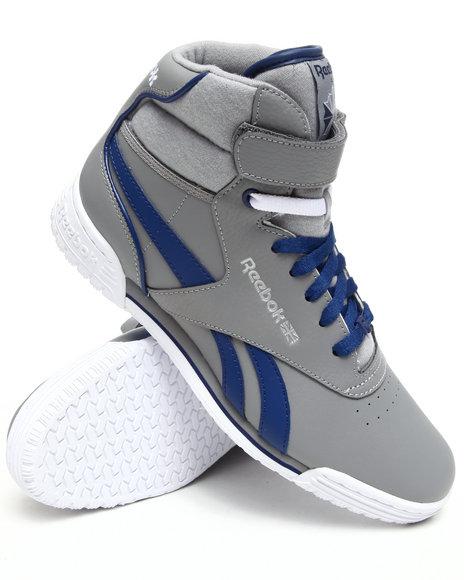 Reebok Men Grey Exofit Hi Clean Logo R12 Sneakers