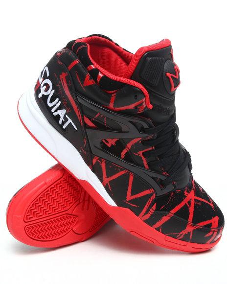 Reebok Men Black,Red Basquiat : Curated By Swizz Beatz Pump Omni Lite Sneakers