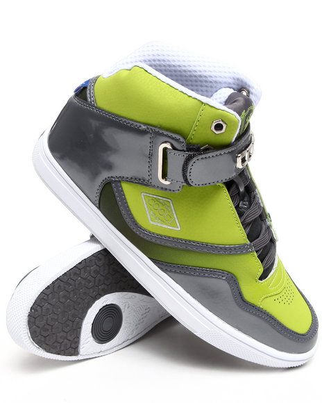 COOGI Men Lime Green,Charcoal Coogified Hightop Sneaker