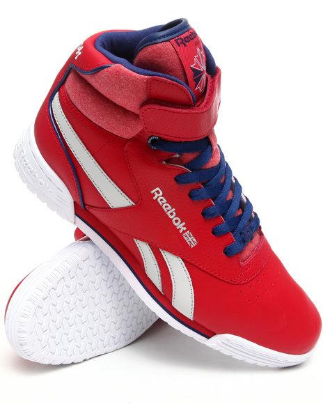 Reebok Men Red Exofit Hi Clean Logo R12 Sneakers