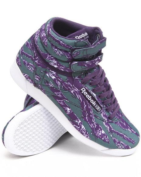 Reebok Women Purple Freestyle Hi Intl Sneakers