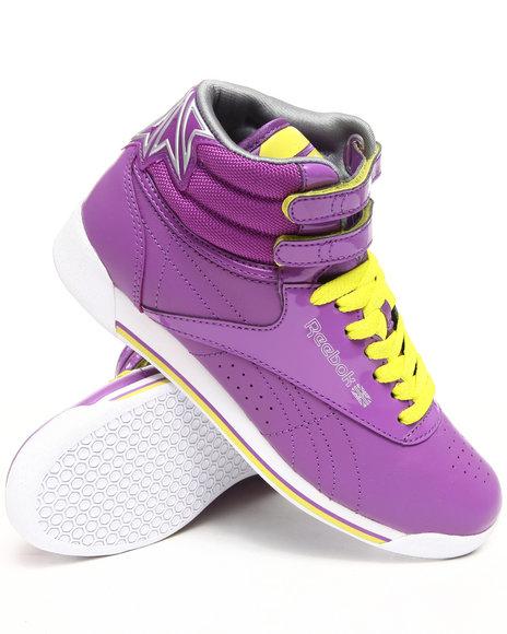 Reebok Women Purple Freestyle Hi R12 Sneakers