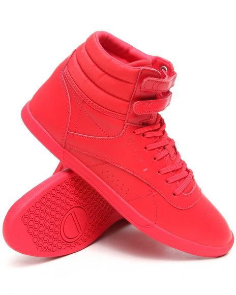 Reebok Women Red Freestyle Hi Mini Sneakers