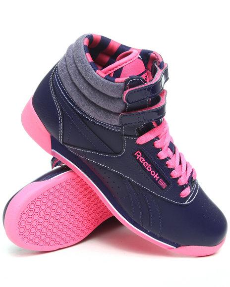 Reebok Women Blue Freestyle Hi R12 Sneakers