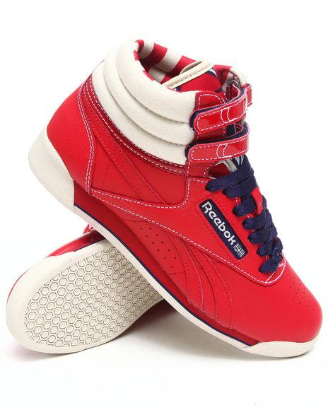 Reebok Women Red Freestyle Hi R12 Sneakers