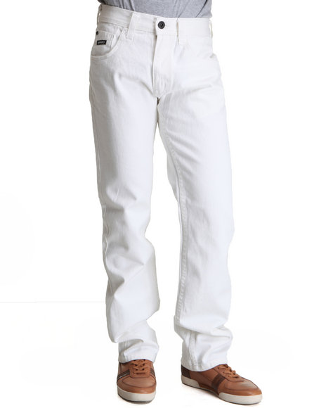 Enyce Men White Premium New Tradition Slim Straight Denim Jean