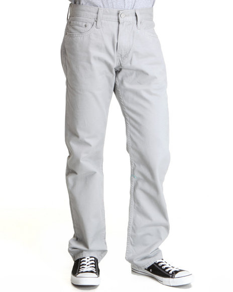 Levi's Grey 514 Slim Straight Fit Limestone Soft Washed Twill Pants