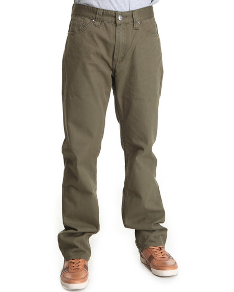 A Tiziano Men Forest Green Kenndy Denim Jeans