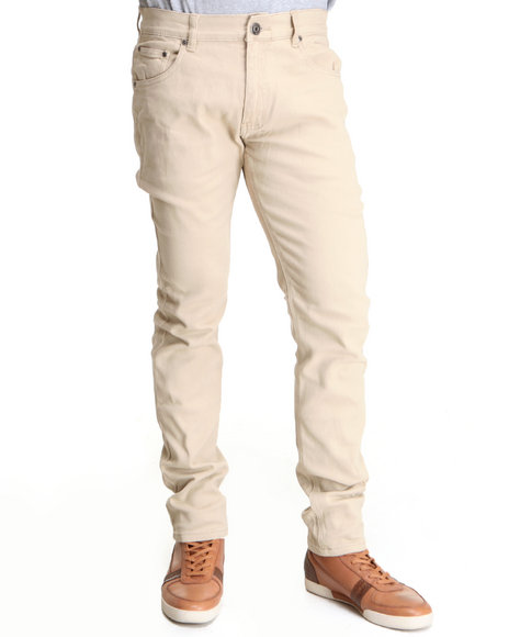 Buyers Picks Men Tan Skinny Fit Color Twill Color Pants