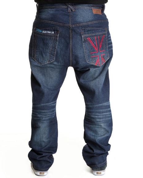 COOGI Men Dark Wash Thrones Dark Wash Denim Jeans (B&T)