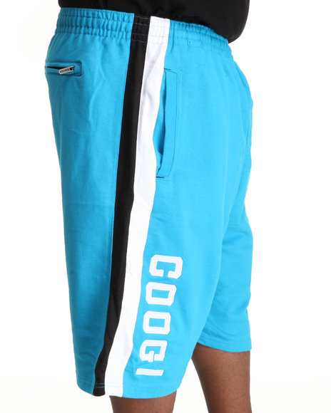 COOGI Men Blue Thrones Fleece Shorts (B & T)