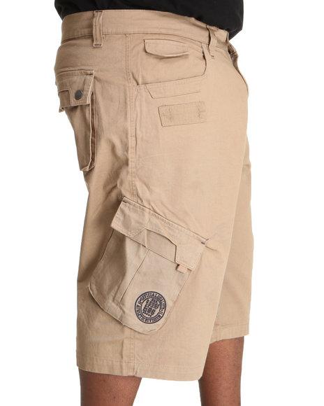 COOGI Men Khaki Patriot Draw String Cargo Shorts (B&T)