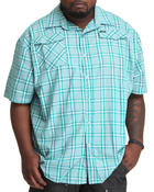 Rocawear - Plaid Meets Floral S/S Button-down (B&T)