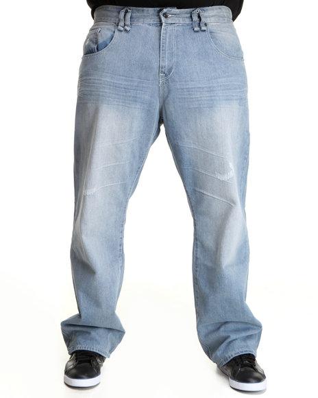 Rocawear Men Light Wash Hurricane Jeans (B&T)