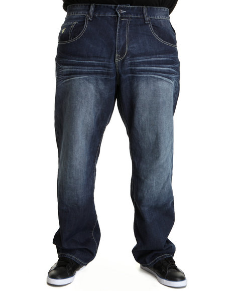 Rocawear Men Dark Wash 0Rw99 Jeans (B&T)