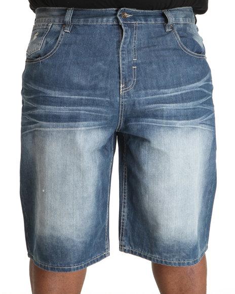 Rocawear Men Medium Wash Core Denim Shorts (B&T)