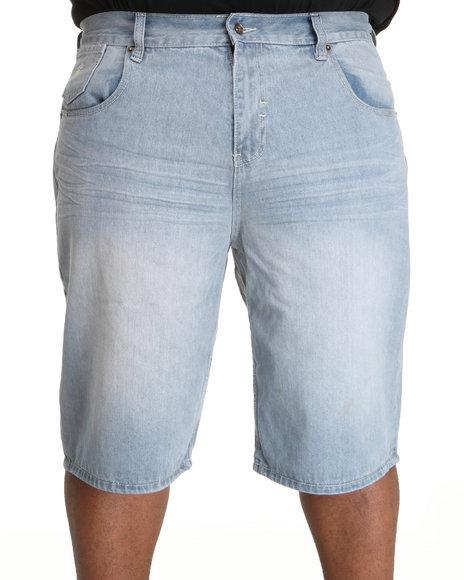 Rocawear Men Light Wash Core Denim Shorts (B&T)