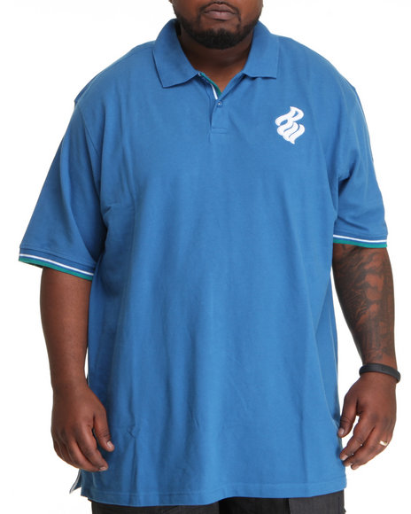 Rocawear Men Blue Flame S/S Polo (B&T)