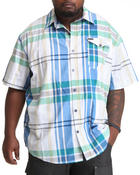 Rocawear - Super Sized Plaid S/S Button-down (B&T)