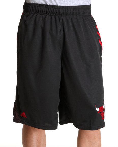 Adidas Men Black Chicago Bulls Afg 3-Stripe Hoop Shorts